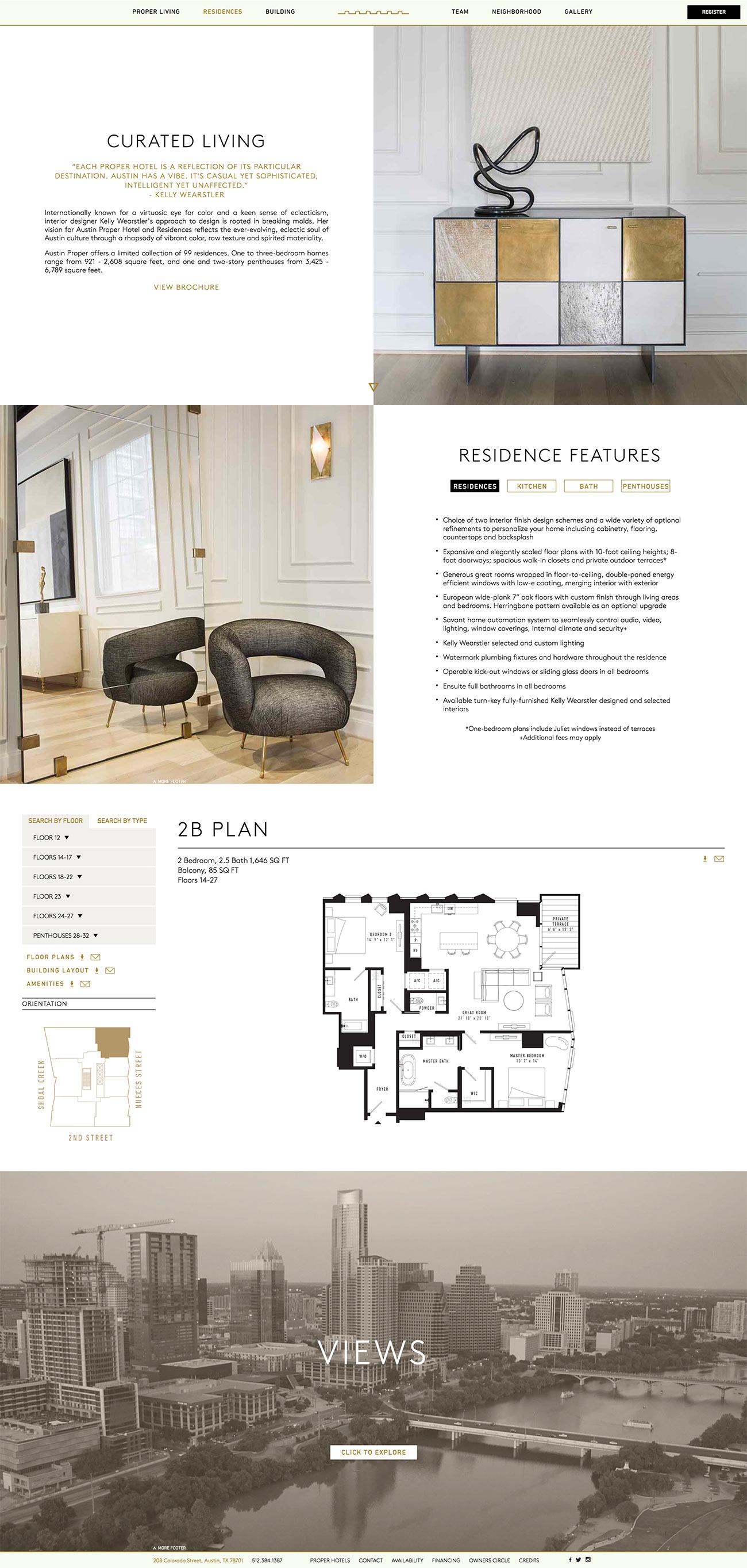 Austin Proper Website by Ideawork Studios