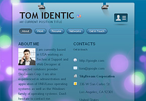 DotMe Glass Theme