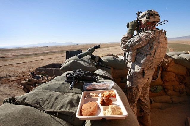 deployed soldier on Thanksgiving