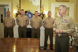 enlisted Marine aides