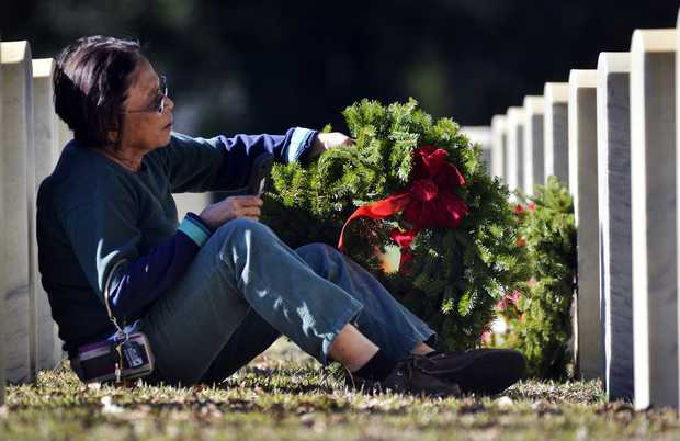 Wreaths Across America day at the Beaufort National Cemetery. Photo Courtesy of: The State