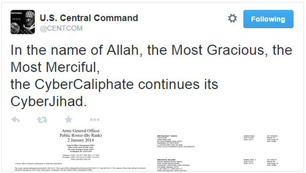 ISIS Hacks CENTCOM Twitter, YouTube Accounts | The SITREP Military