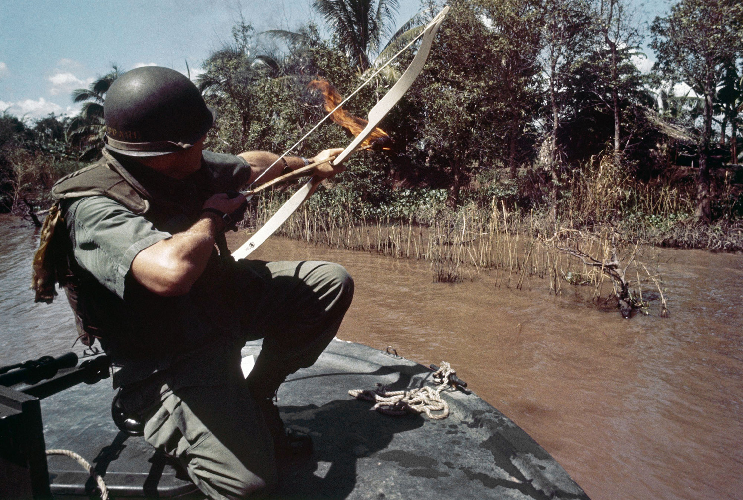 top gear helicopter with This Photo Of A Navy  Mander Shooting A Flaming Arrow In Vietnam Is Beyond Gripping on This Photo Of A Navy  mander Shooting A Flaming Arrow In Vietnam Is Beyond Gripping likewise Bell Helicopter Co in addition Flight Simulator Games additionally The Top 10 Movie Guns additionally Top 5 Secret Military Aircrafts.