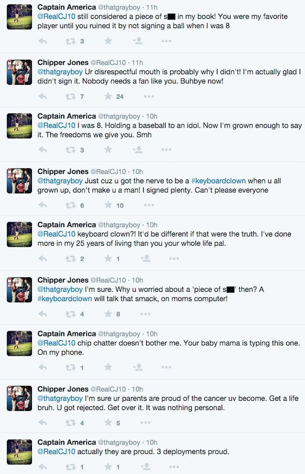 twitter feud chipper jones