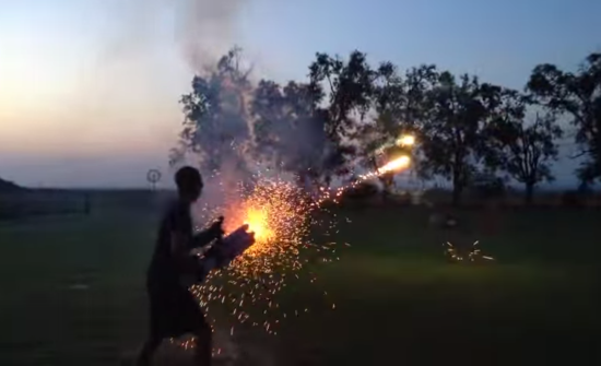 HERES A ROMAN CANDLE MACHINE GUN FIRING YOURE WELCOME - THE SITREP MILITARY BLOG
