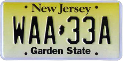 Paper license plates sold for cash.