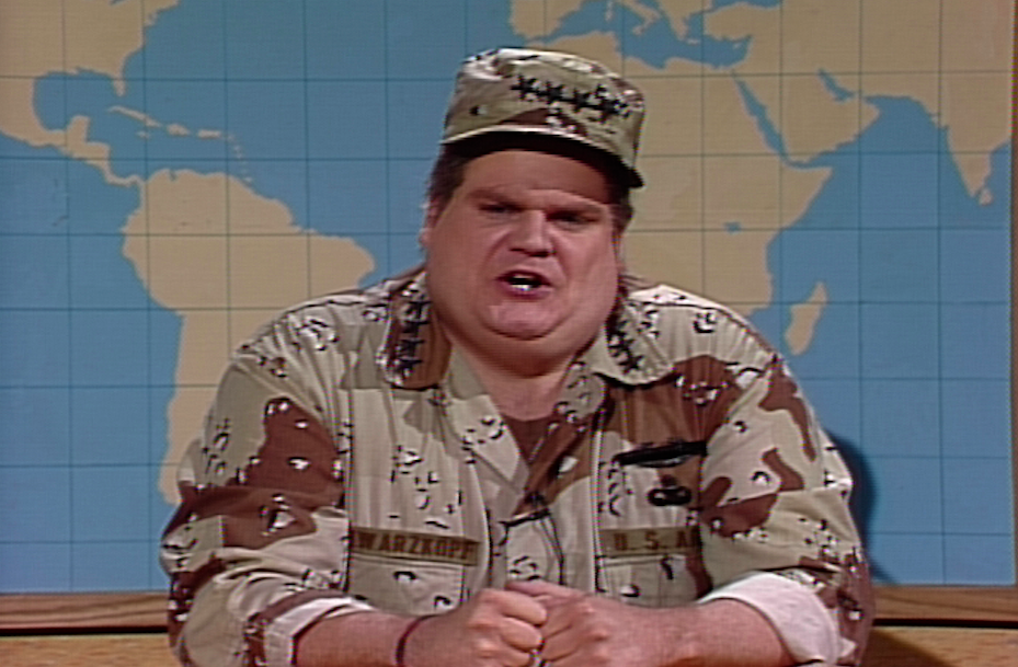 The Time Chris Farley Became General Norman Schwarzkopf