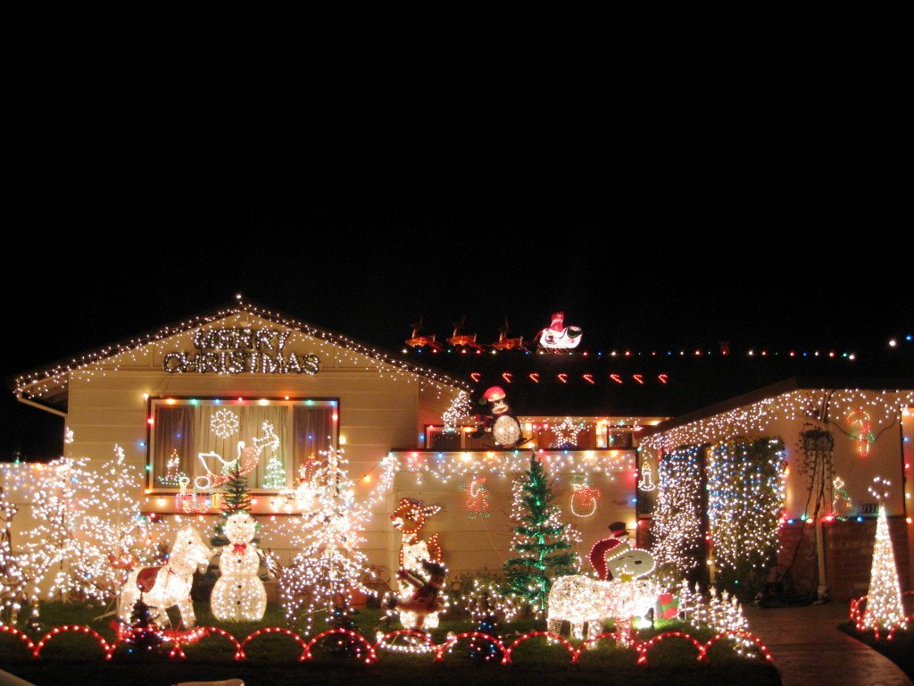 Grinch stealing lights christmas decorations - Veteran Decorated Home Photo The Sitrep Military Blog