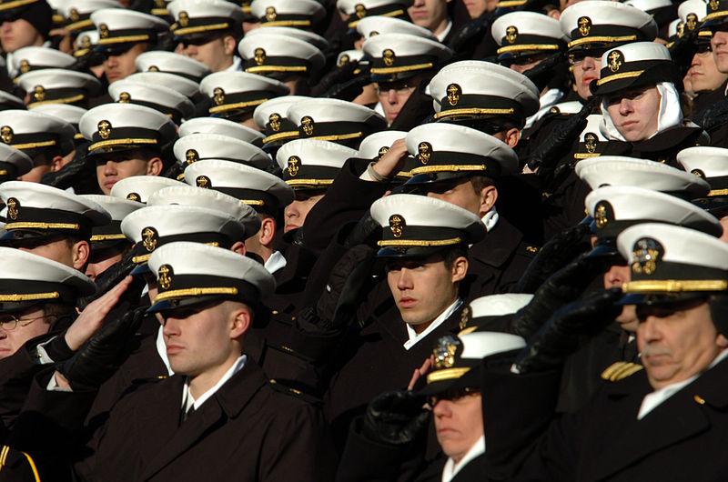 Naval Academy Students Keep Man In Midshipman