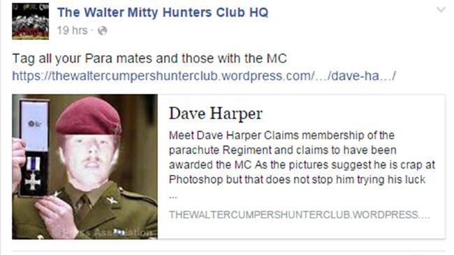dave harper post walter mitty club