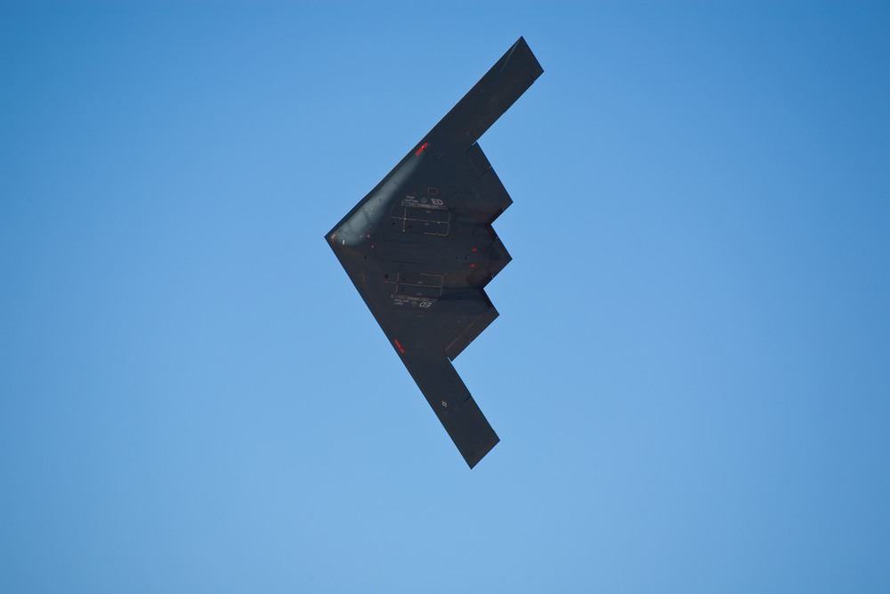 this stealth bomber flyby will make you drop a not so stealth