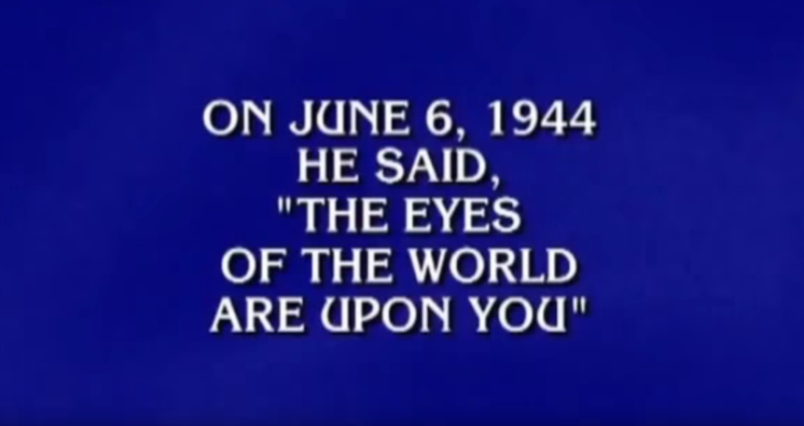 Jeopardy Questions With Answers