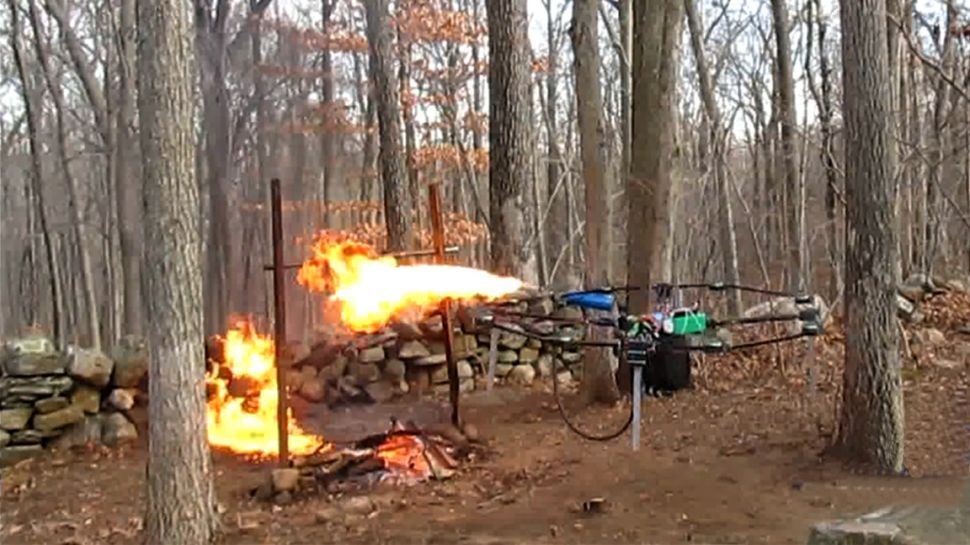 Flamethrowers Drone Image - The SITREP Military Blog