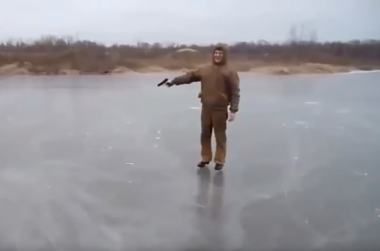 THIS IS WHAT HAPPENS WHEN YOU FIRE A GUN INTO A FROZEN POND - THE SITREP MILITARY BLOG