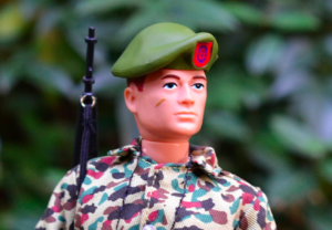 green beret doll for photo
