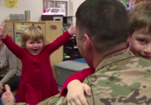 WATCH ARMY MAJOR MAKE UNANNOUNCED VISIT TO KIDS VIRGINIA DAYCARE