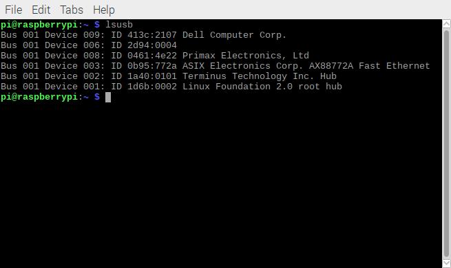 linux idwedgekb lsusb