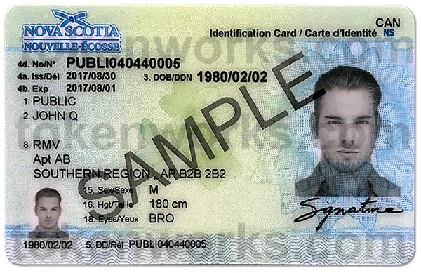 New Nova Scotia ID Card Design