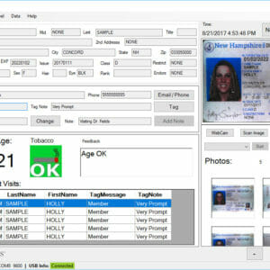 IDVisor Sentry ID Scanner Age Verification Form Filler