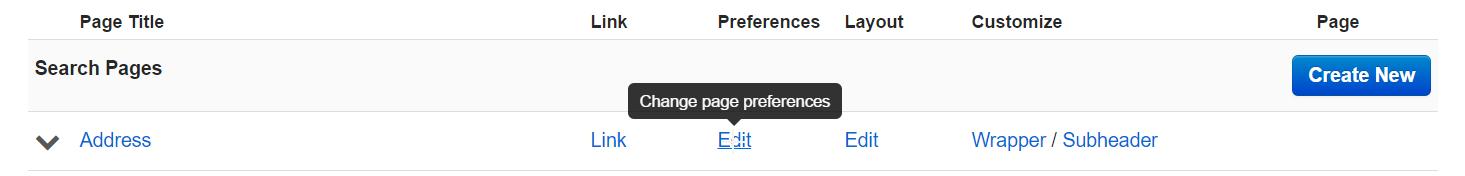 Edit Preferences