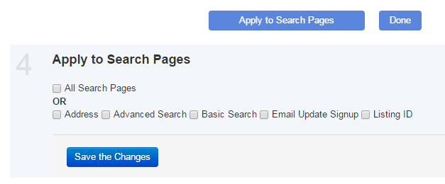 Apply to Search Pages