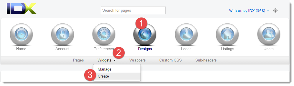 create quick search widget