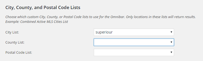 omnibar custom lists
