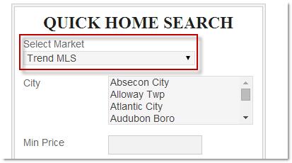 Market Area selector