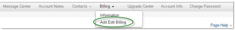 Edit Billing