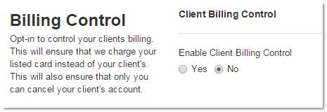 Billing Control