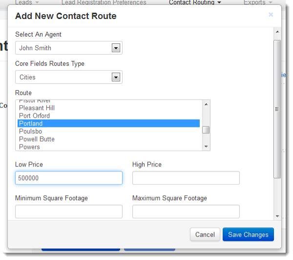 Add Contact Route