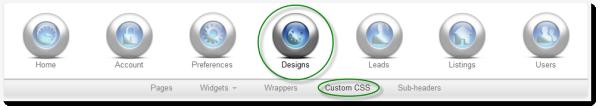 Custom CSS Navigation