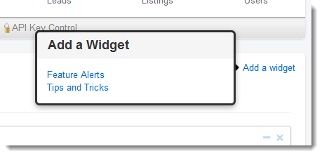 Add a Widget