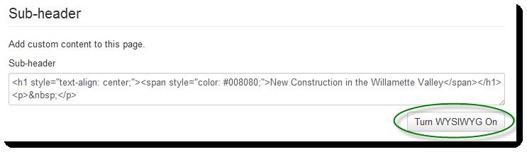 subheader html