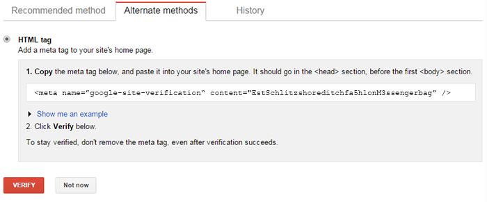 Verify Tag