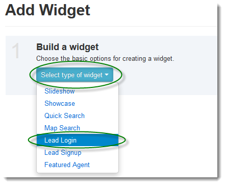 Create Lead Widget