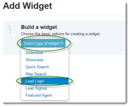 Create Lead Widget