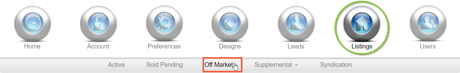Off Market navigation