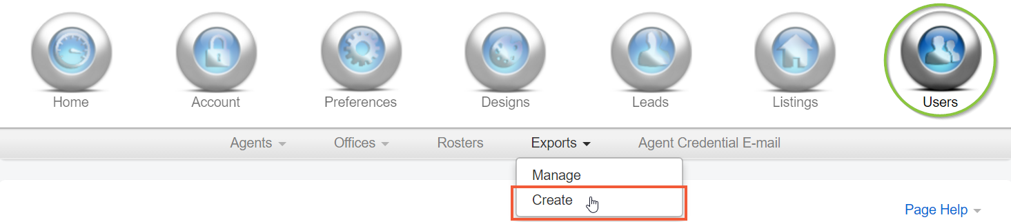 users export navigation
