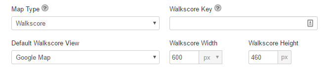 Walkscore options