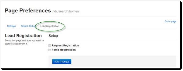 Lead Registration