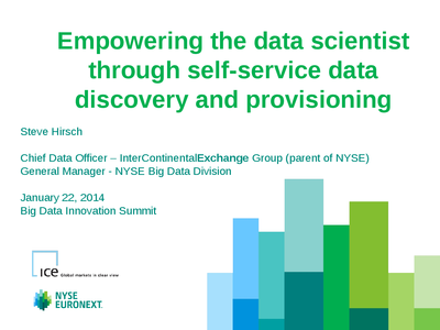 Empowering the Data Scientist through Self-Service Data Provisioning presentation image