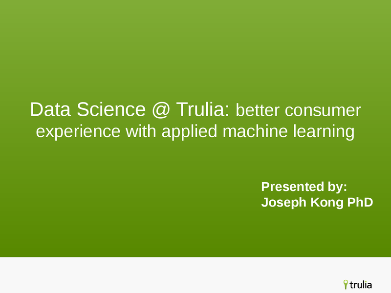 Better Consumer Experiences with Applied Machine Learning