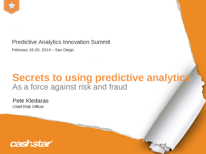 Secrets to Using Big Data Tools to Fight Fraud Risks