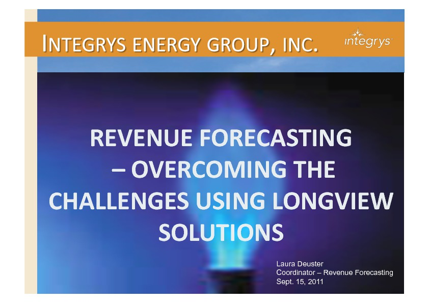 on demand presentations how integrys energy group shortened its revenue forecasting cycle. Black Bedroom Furniture Sets. Home Design Ideas