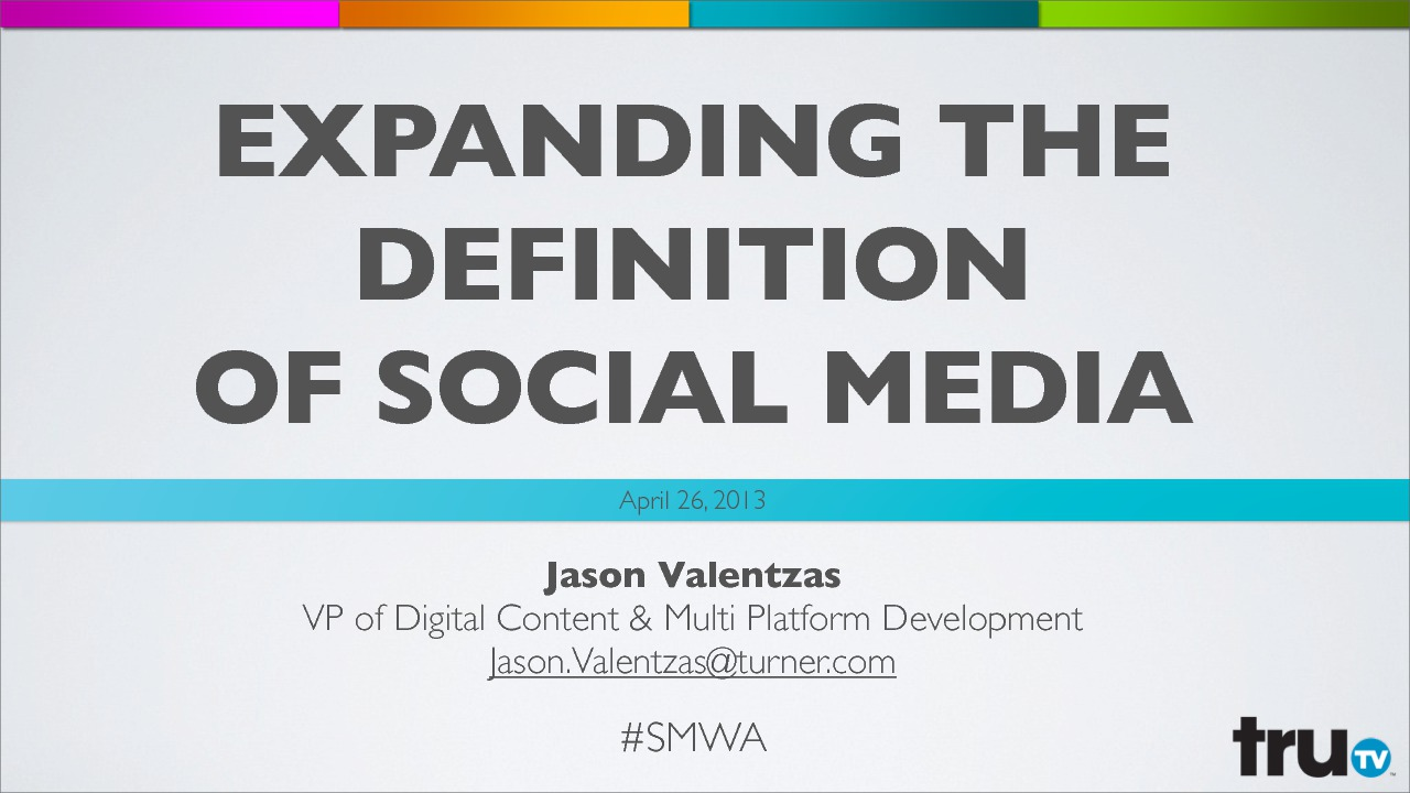 on demand | presentations | expanding the definition of social media