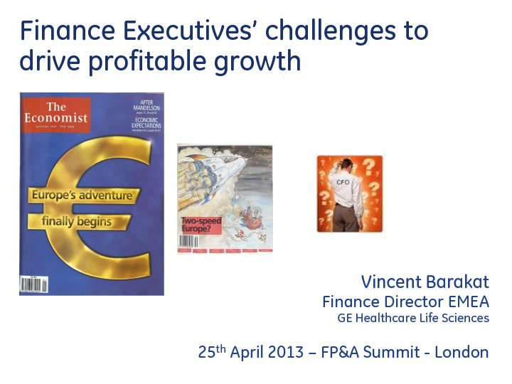 Finance Executives' Challenges to Drive a Profitable Growth