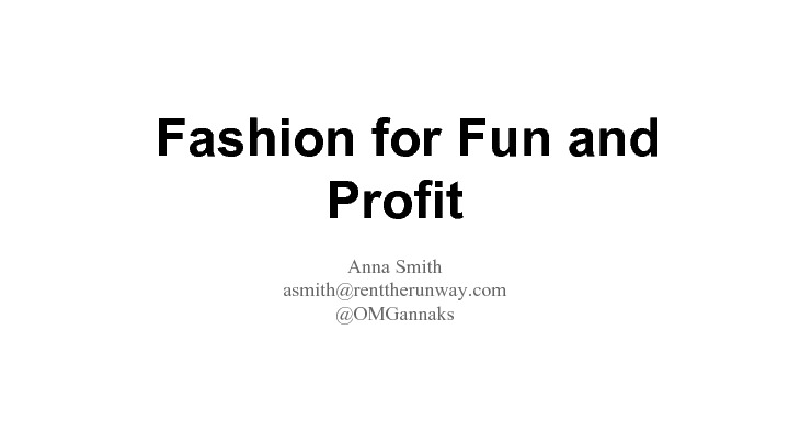 Science for Fashion and Profit image