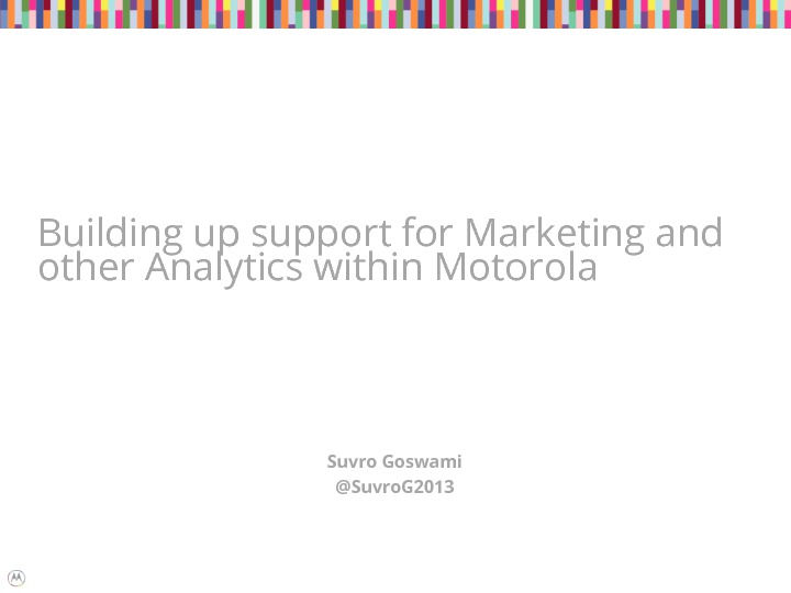 Leveraging Analytics in Marketing