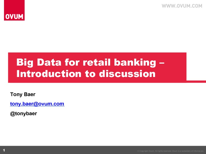 On Demand | Event | Big Data & Analytics for Banking